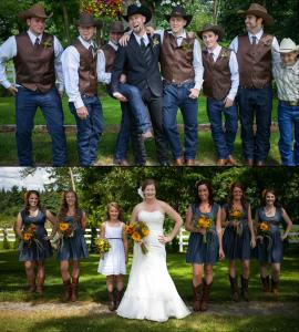 Blue Denim Rustic Wedding Ideas For Jean